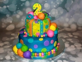 Colorful-ball-cake