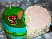 His-and-her-golf-and-ruffle-cake