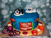 Shark-scuba-cake