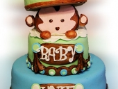 Surprise-Monkey-baby-shower-cake
