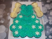Turquoise-princess-dress-cupcake-cake