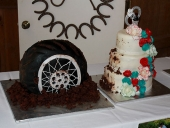 tire-flinging-mud-wedding-cake
